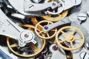 clock mechanism time concept. close-up view. shallow DOF. ID - 48960459